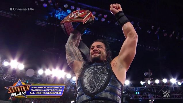 Roman Reigns wins Universal Championship title after defeating Brock Lesnar