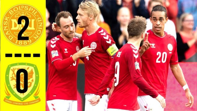 Highlights Denmark 2-0 Wales
