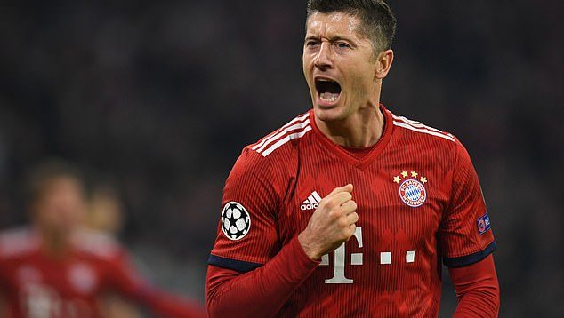 Lewandowski nets double against AEK Athens