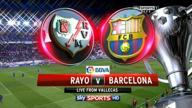 Rayo Valecano vs Barcelona Live streaming link