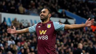 Elmohamady celebrates after helping to double the home side's advantage in the early stages of the game