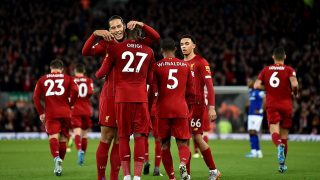 Liverpool's title credentials were once again underlined with a dominant performance to win the Merseyside derby at Anfield