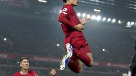 Virgil van Dijk scored the opener, as Liverpool dominated their old rivals at home